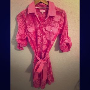 LILLY PULITZER Pink Resort Fit Shirt Dress/Robe S